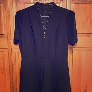 T tahari black dress so cute NWOT
